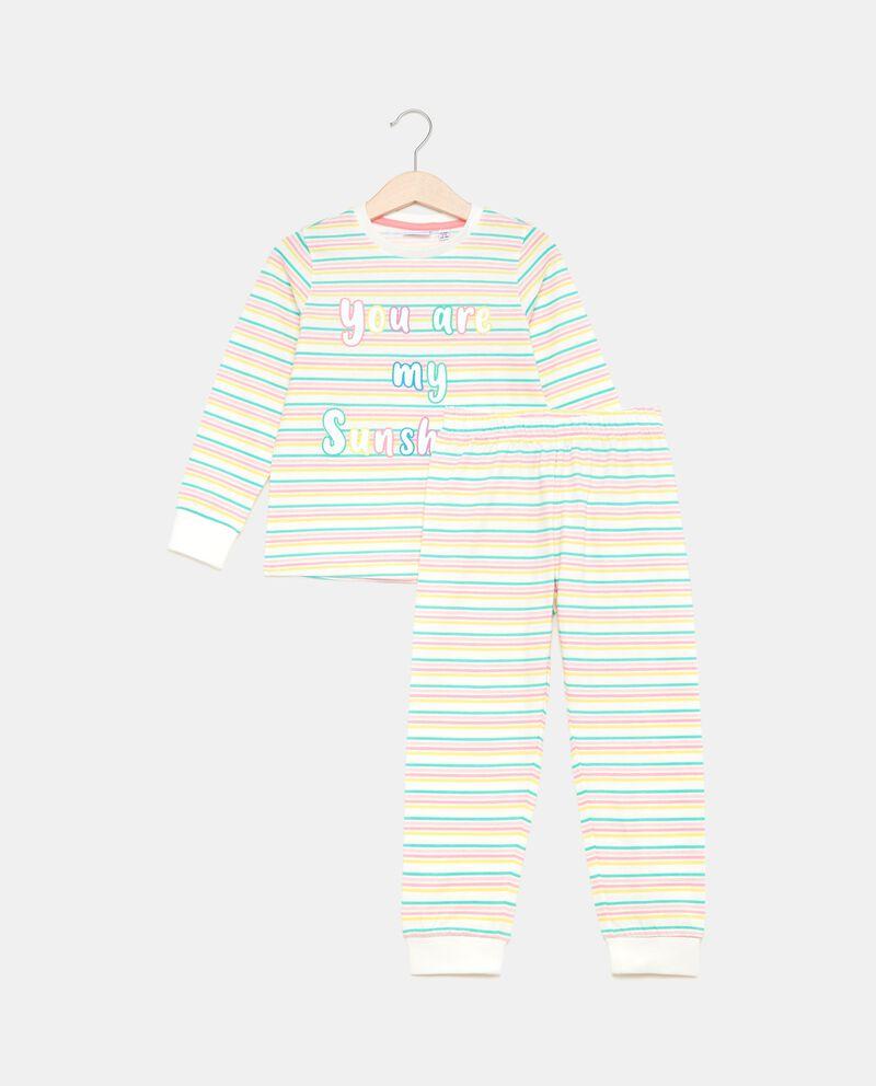 Set pigiama a righe in puro cotone