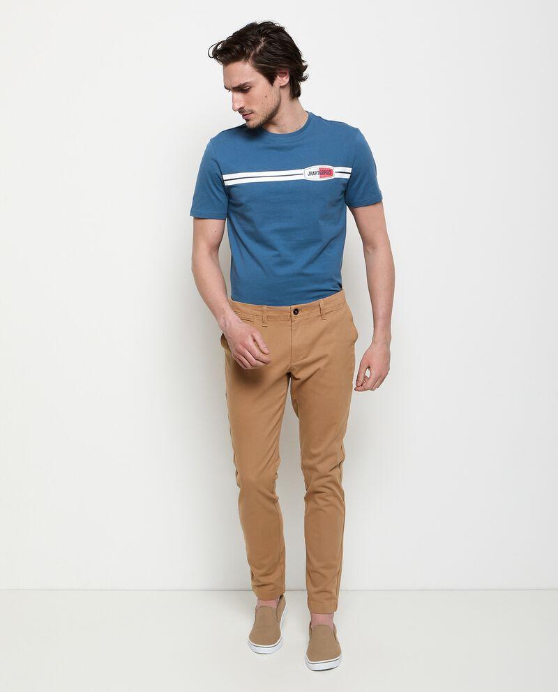 Pantaloni chino in cotone stretch uomo