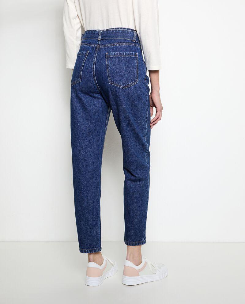 Jeans mom fit in puro cotone donna