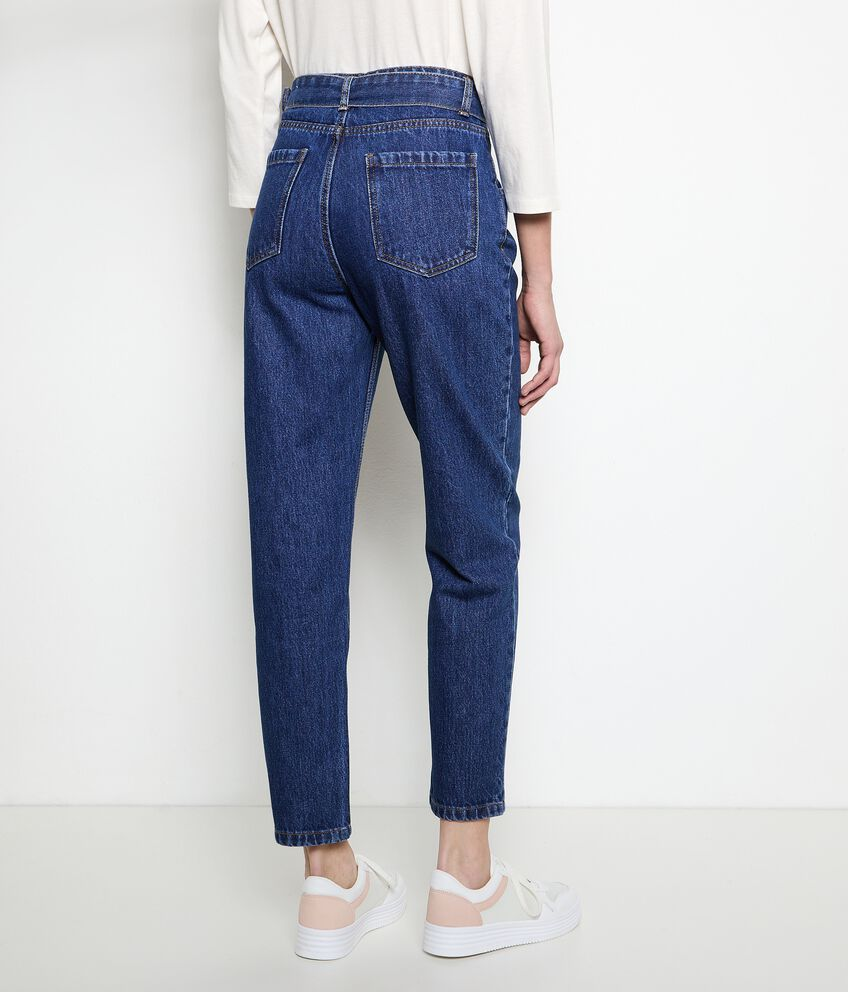 Jeans mom fit in puro cotone donna double 2