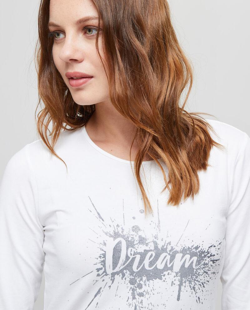 T-shirt maniche a tre quarti stampata