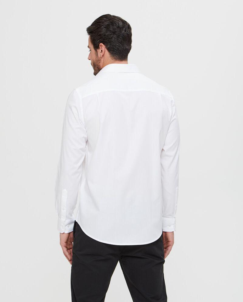 Camicia in puro cotone bianca con texture