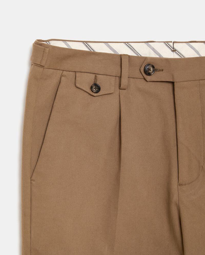 Pantaloni classici in cotone stretch uomo single tile 1
