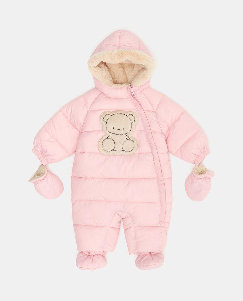 Tutina imbottita con cappuccio guanti e piedini neonata
