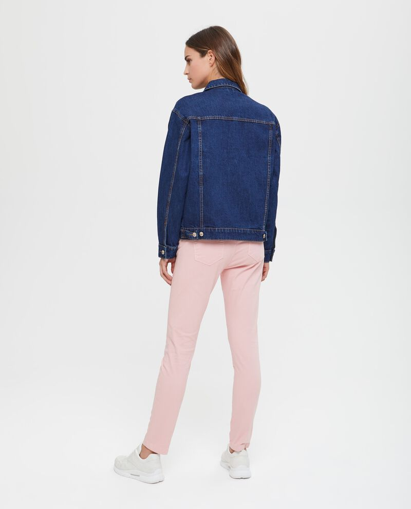Giubbino di jeans tinta unita