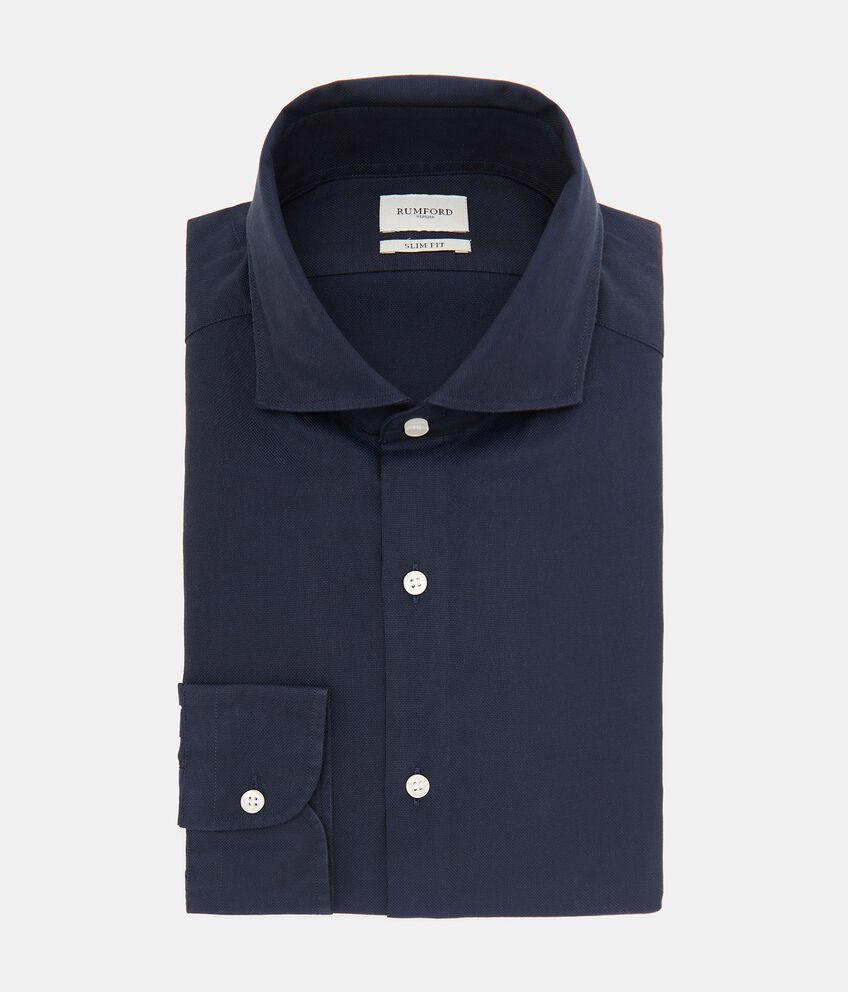 Camicia tinta unita in puro cotone uomo double 1