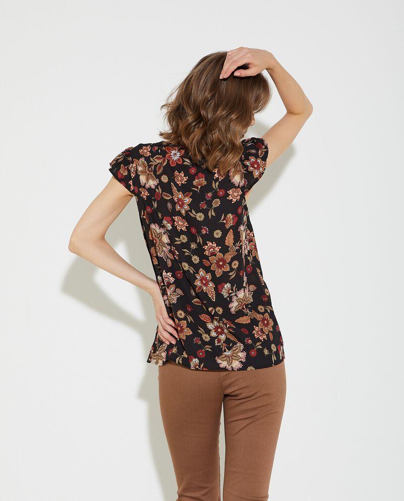 Blusa con spalline ad alette donna