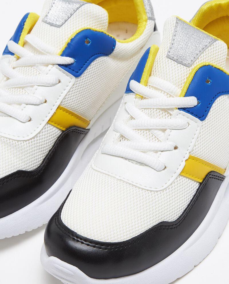 Sneakers tomaia a rete suola alta