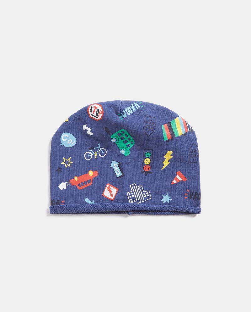Cappellino con fantasia all-over neonato