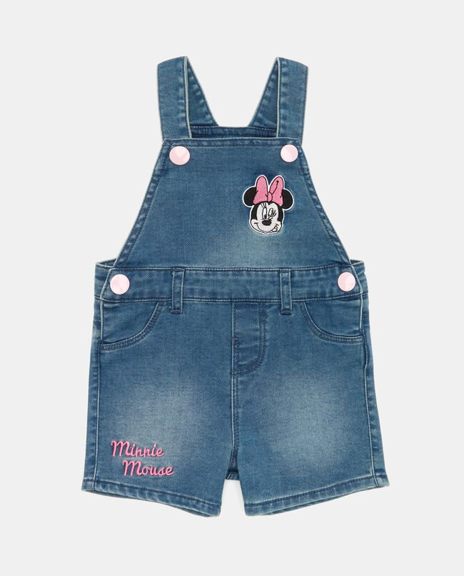 Salopette in jeans Minnie neonata