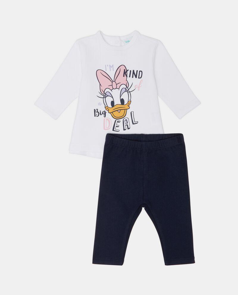 Completino Paperina con felpa e pantaloni neonata