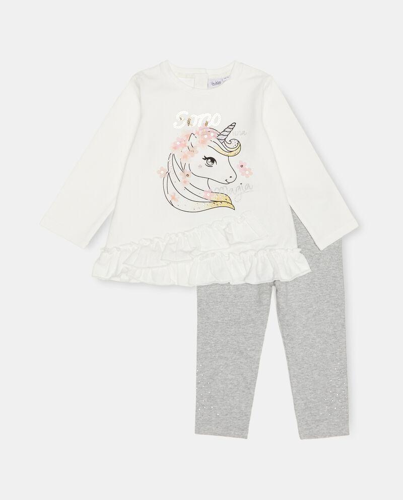 Set jogging di cotone elasticizzato neonatadouble bordered 0