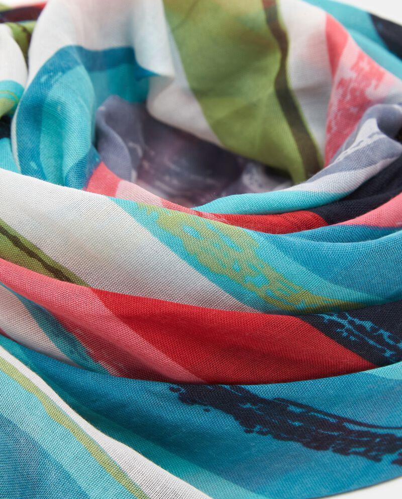 Sciarpa con fantasia a righe multicolor donna