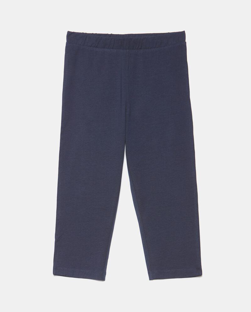 Leggings corsaro in cotone stretch donna