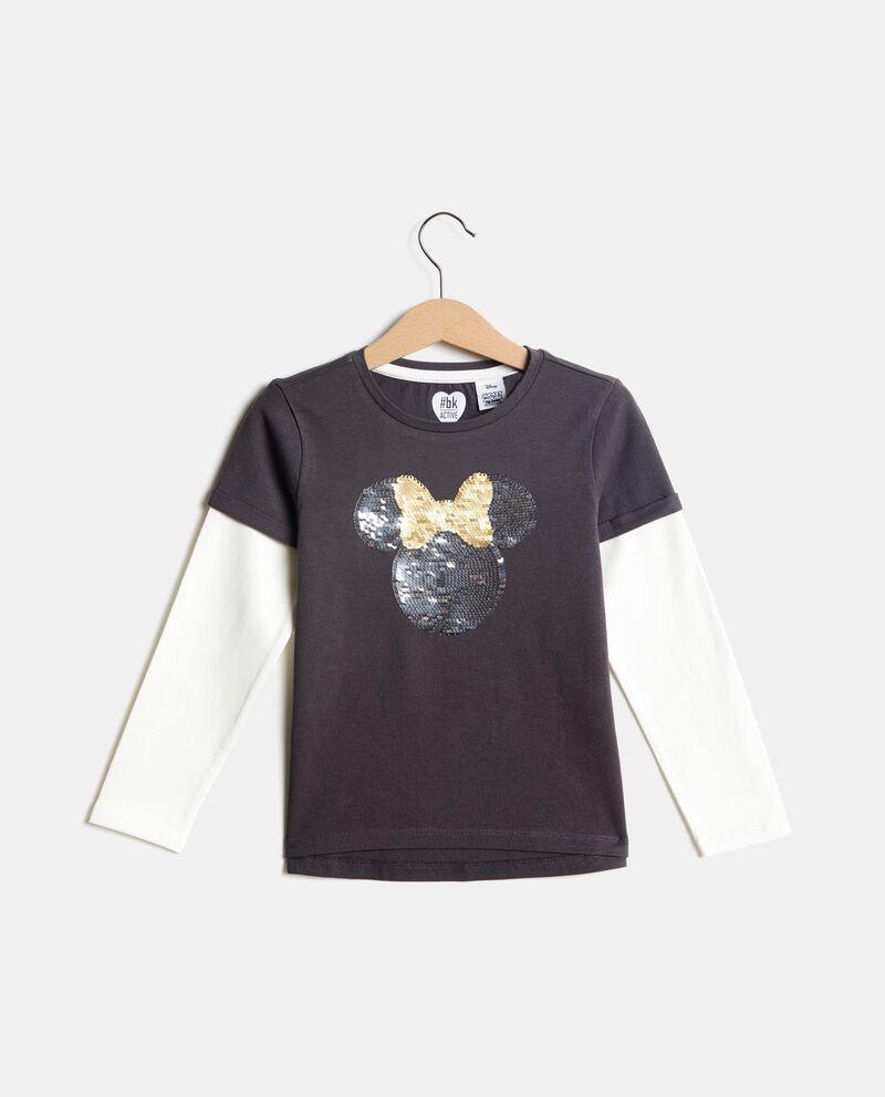 T-shirt doppia con paillettes bambina