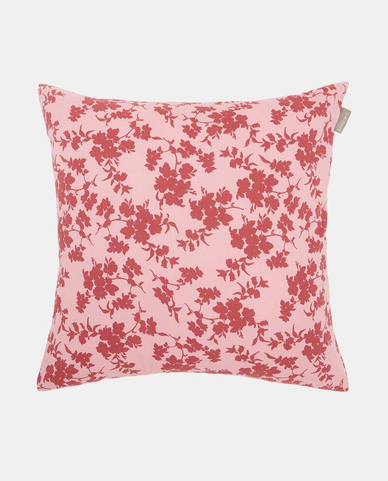 Cuscino in cotone lavato fantasia rose