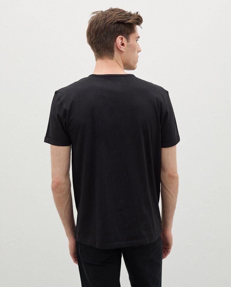 T-shirt stampata di cotone organico uomo single tile 1