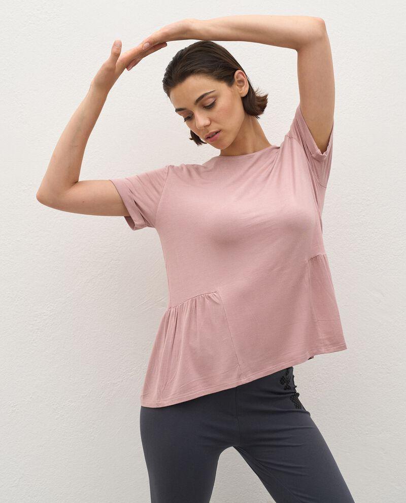 Top Fitness con balza in viscosa stretch donna cover