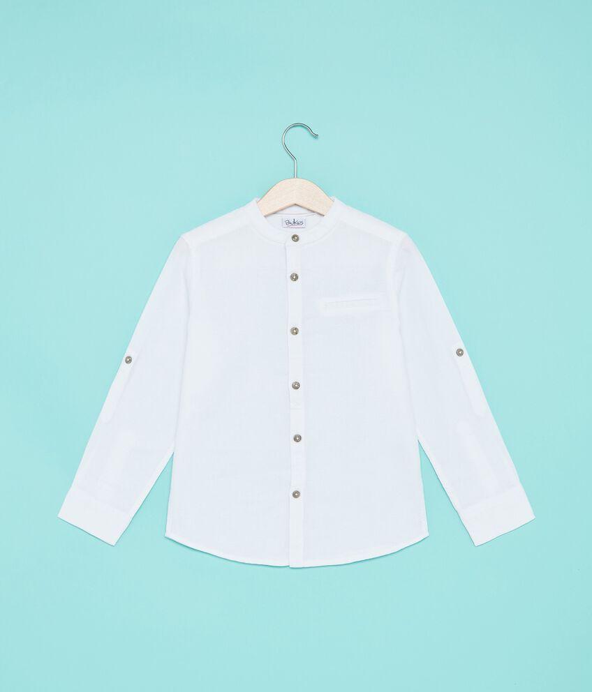 Camicia in puro cotone a maniche lunghe bambino