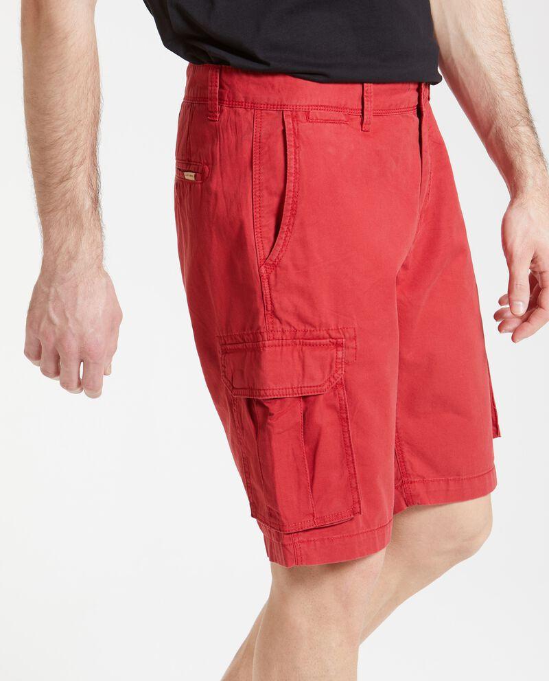 Bermuda cargo puro cotone uomo