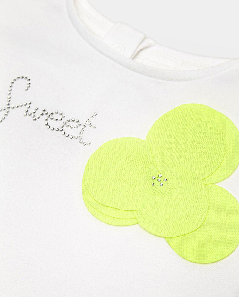 T-shirt in cotone elasticizzato con ruche neonata single tile 1