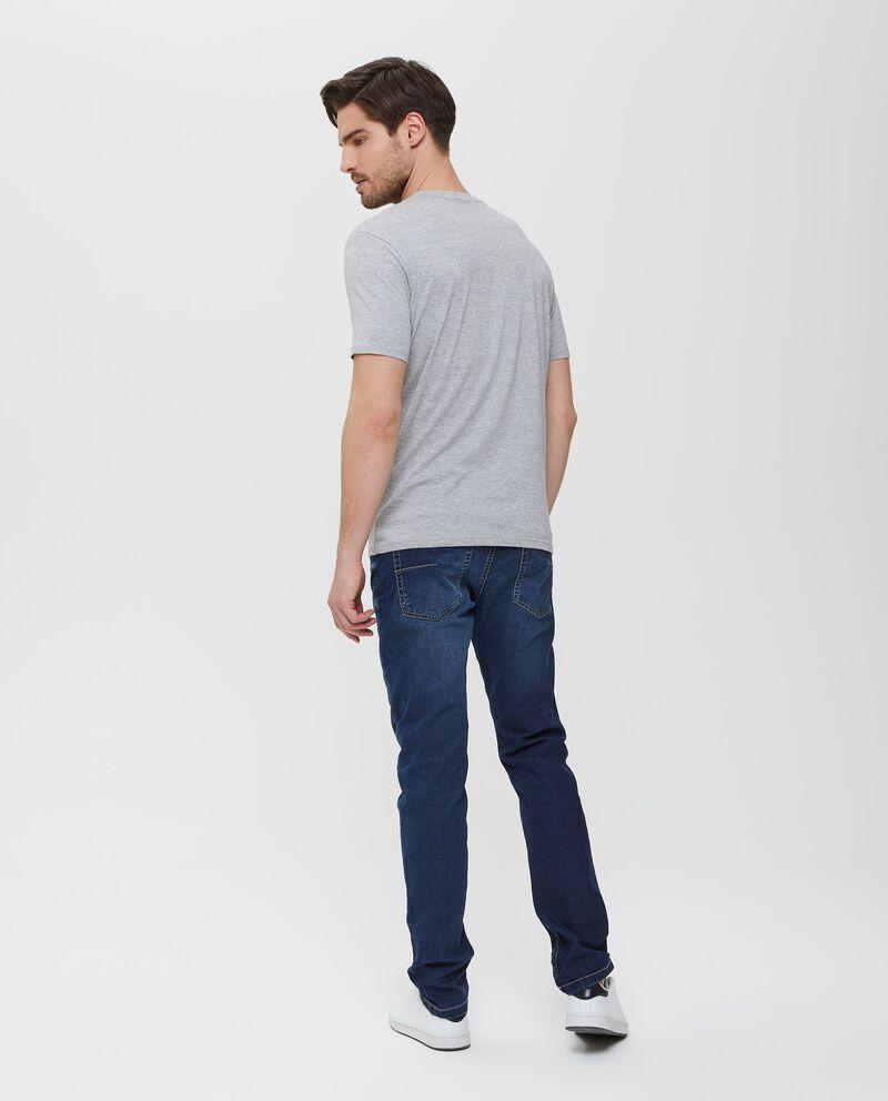 T-shirt in puro cotone a maniche corte uomo