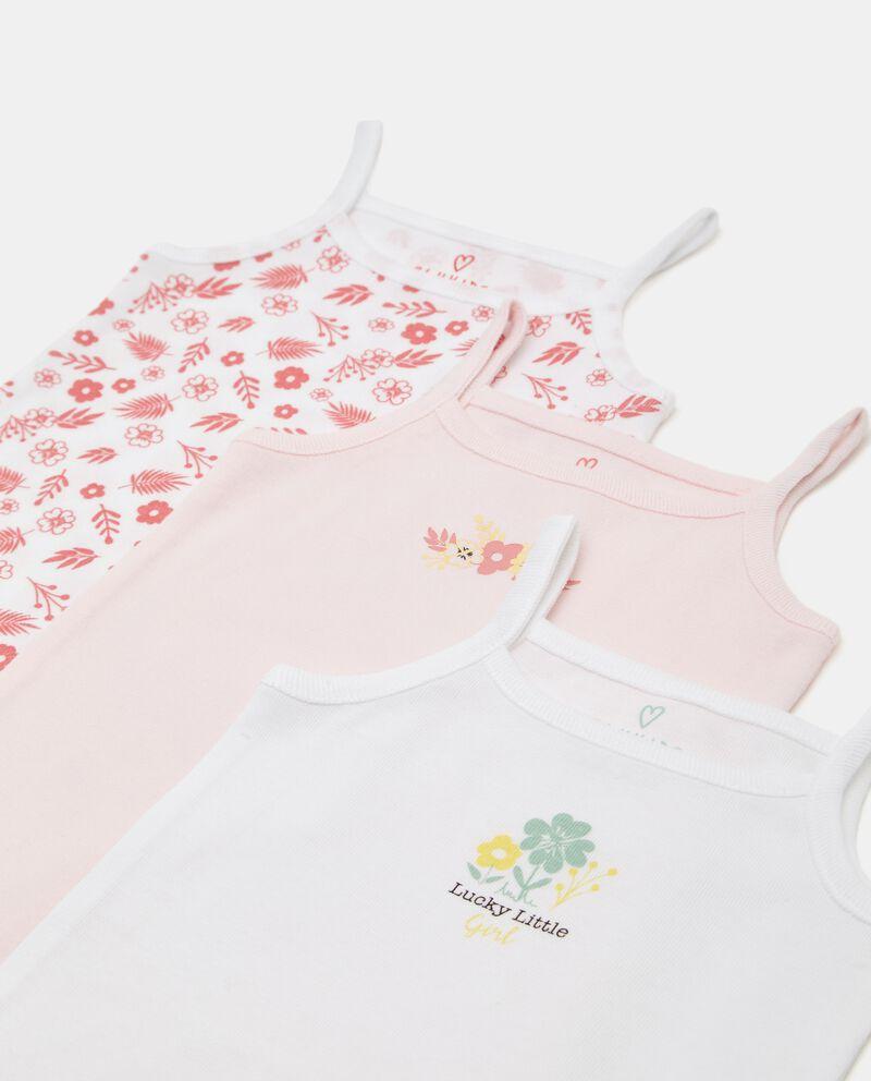 Pack con 3 body in costina di cotone organico neonata