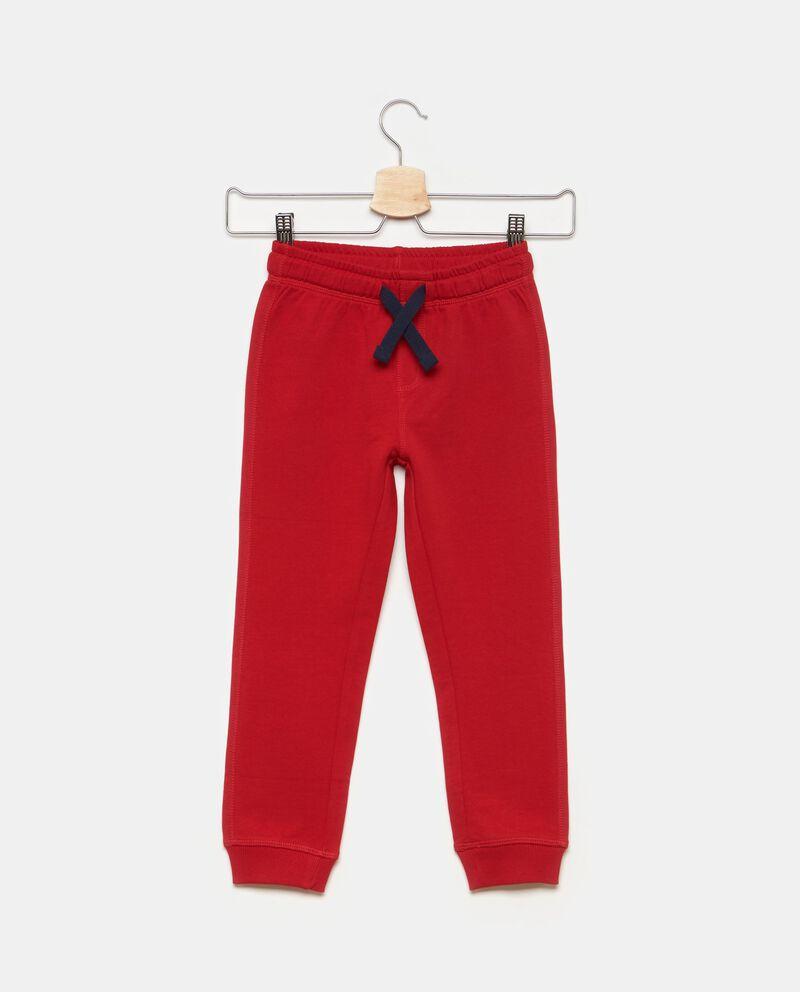 Pantaloni in puro cotone tinta unita
