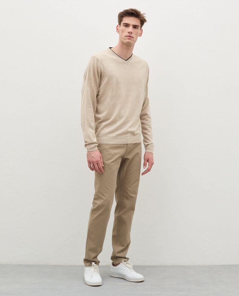 Pantaloni slim cinque tasche di puro cotone uomodouble bordered 0