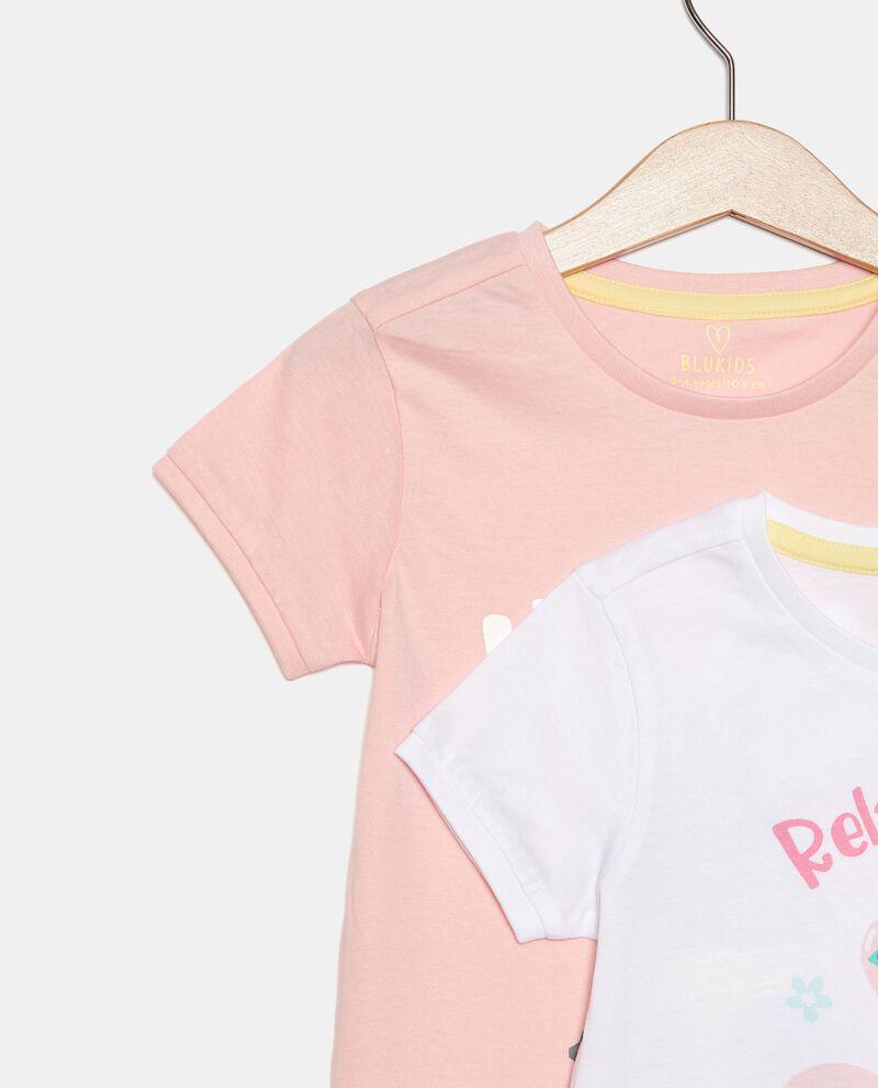 Bipack con 2 pigiami in cotone organico jersey bambina