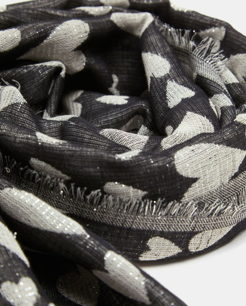 Pashmina in cotone con cuori lurex single tile 1