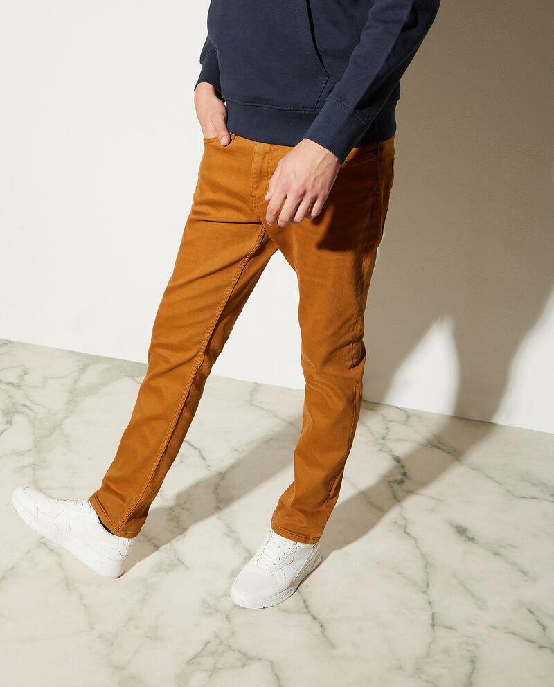 Jeans skinny in tinta unita uomo