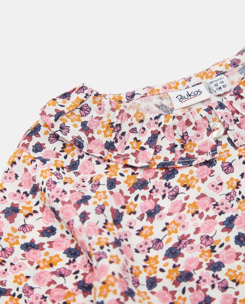 Camicia in viscosa con stampa all over neonata single tile 1