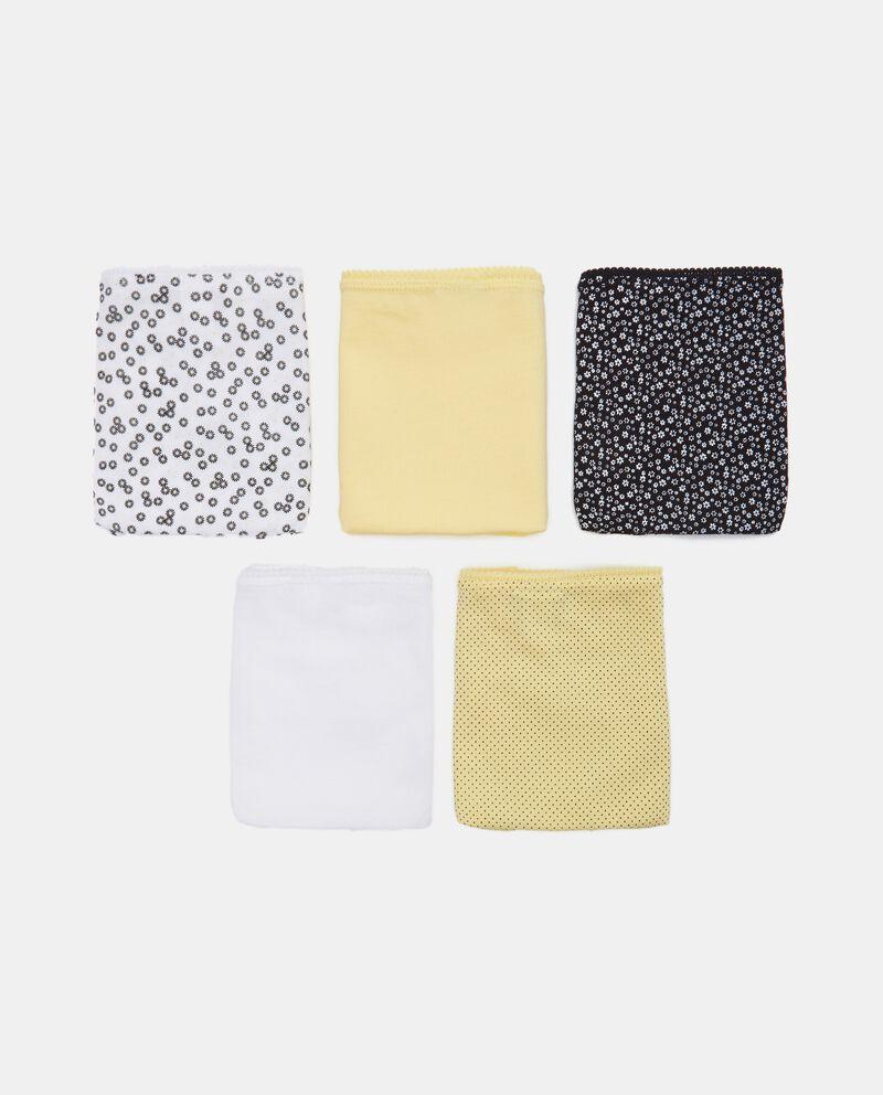 Pack con 5 slip di cotone stretch cover