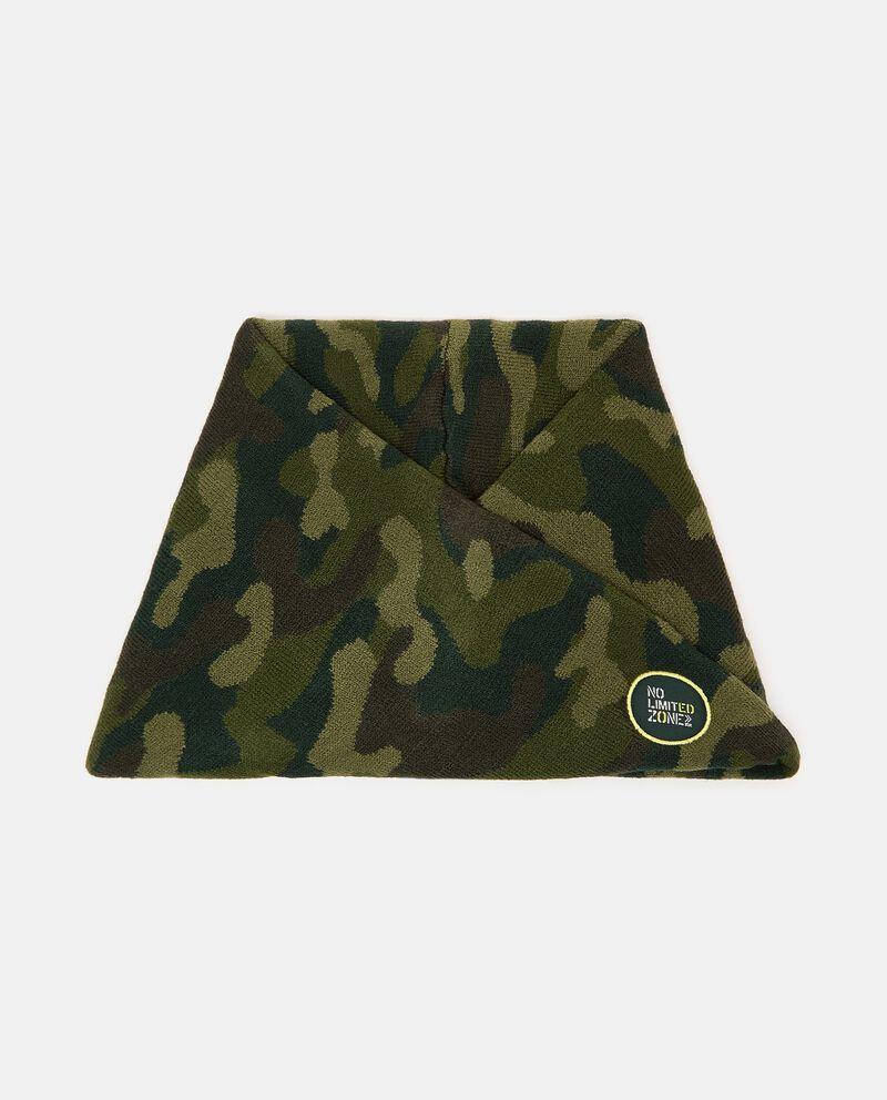 Scaldacollo intrecciato con stampa camouflage cover