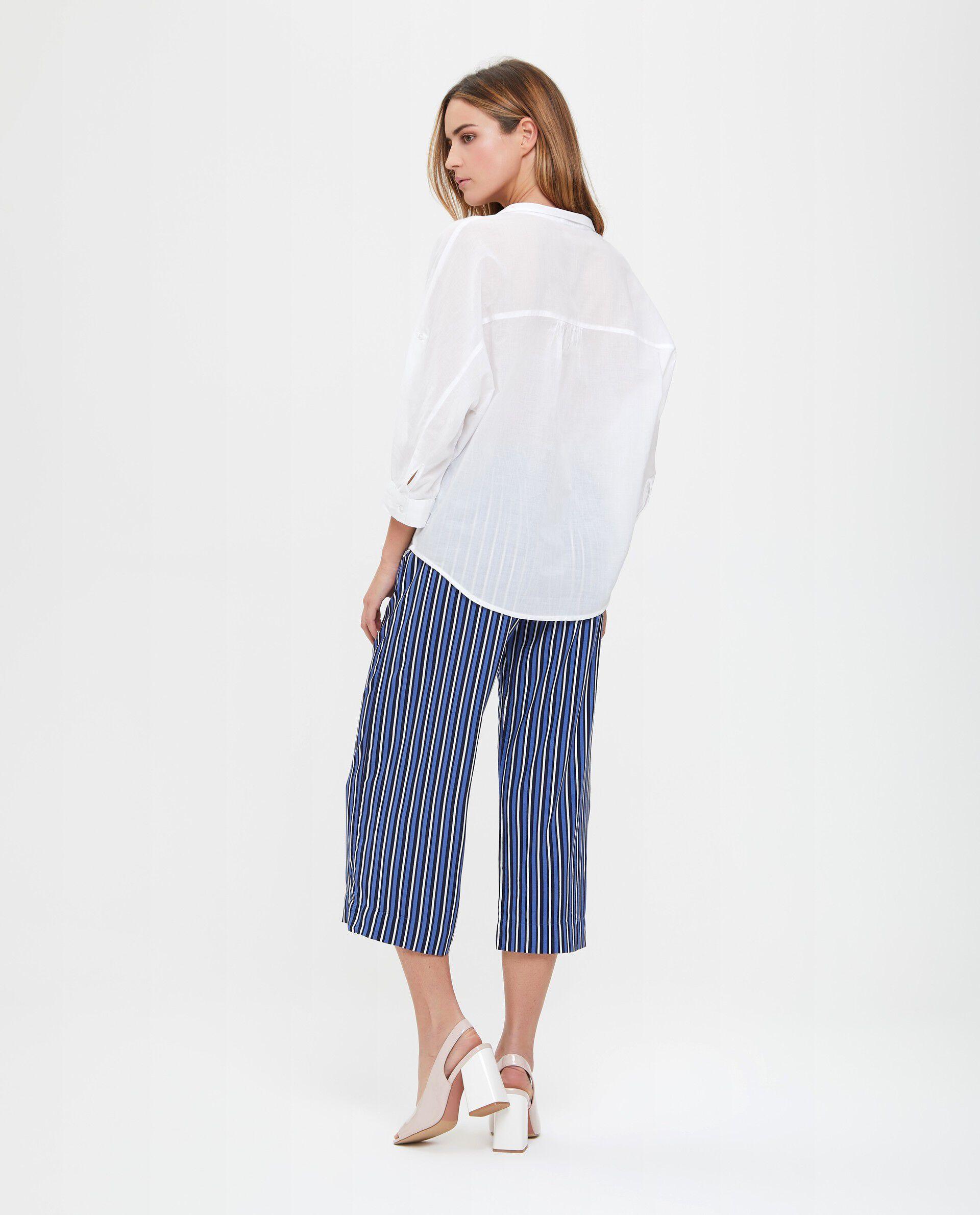 Blusa cotone con colletto e apertura