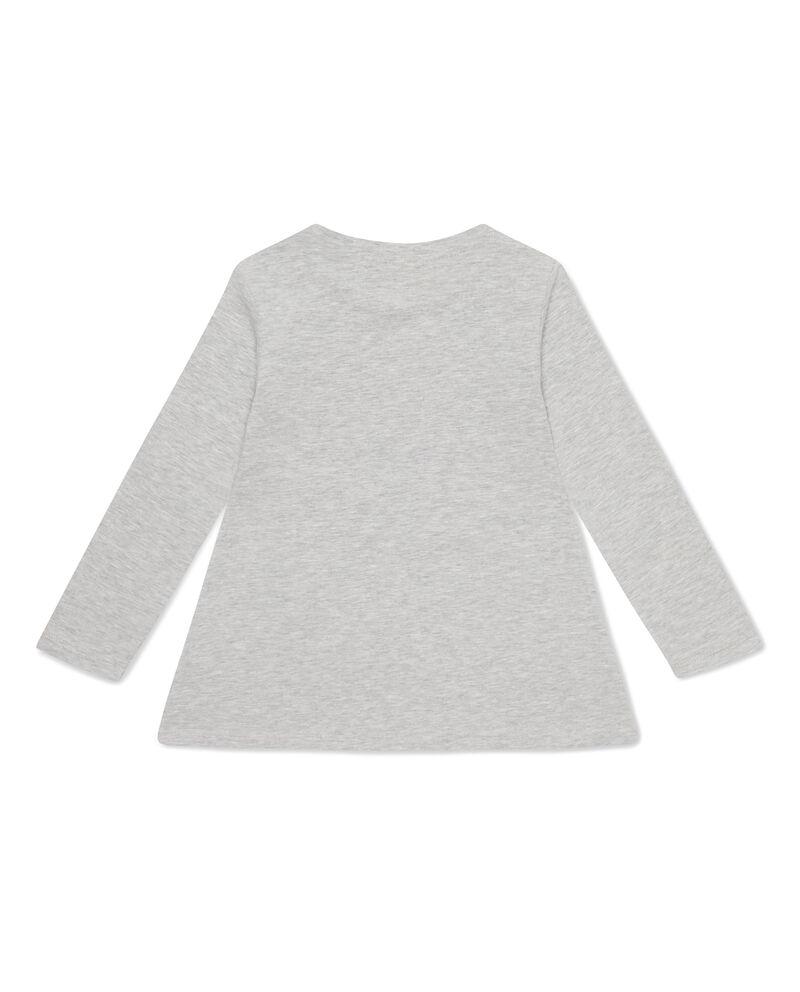 T-shirt mélange maniche lunghe gattino dc0546ee7b0