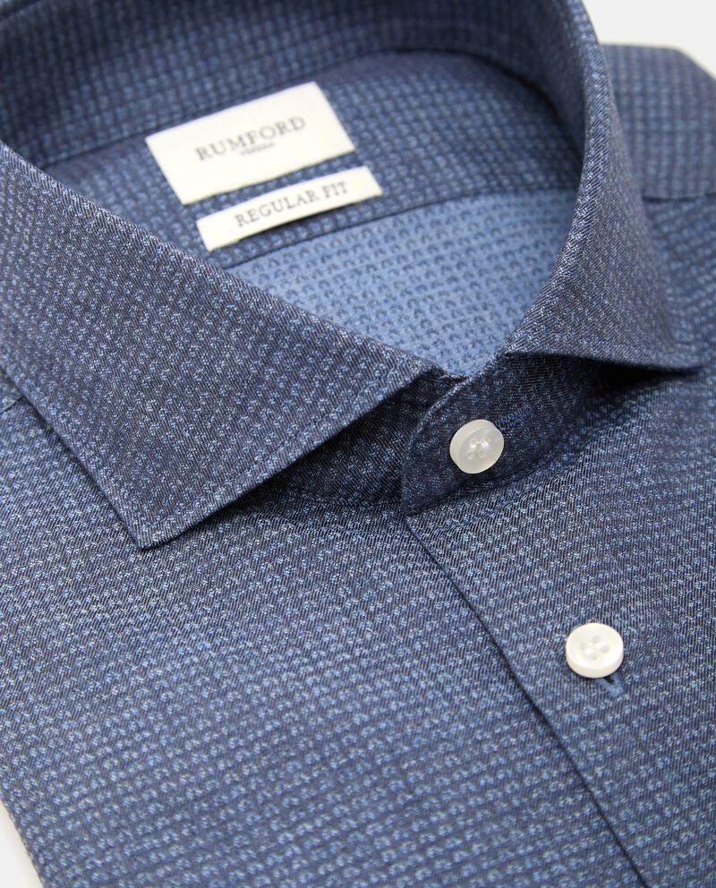 Camicia in micro fantasia di puro cotone uomo single tile 1