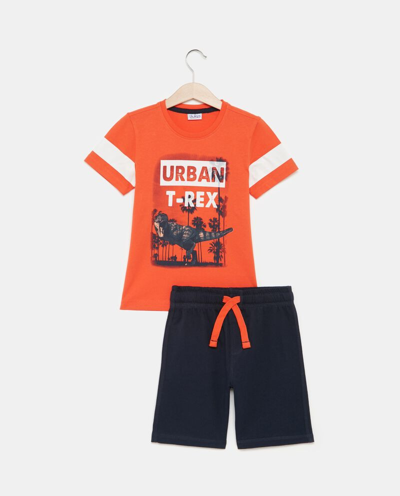 Set t-shirt bande e shorts bambino