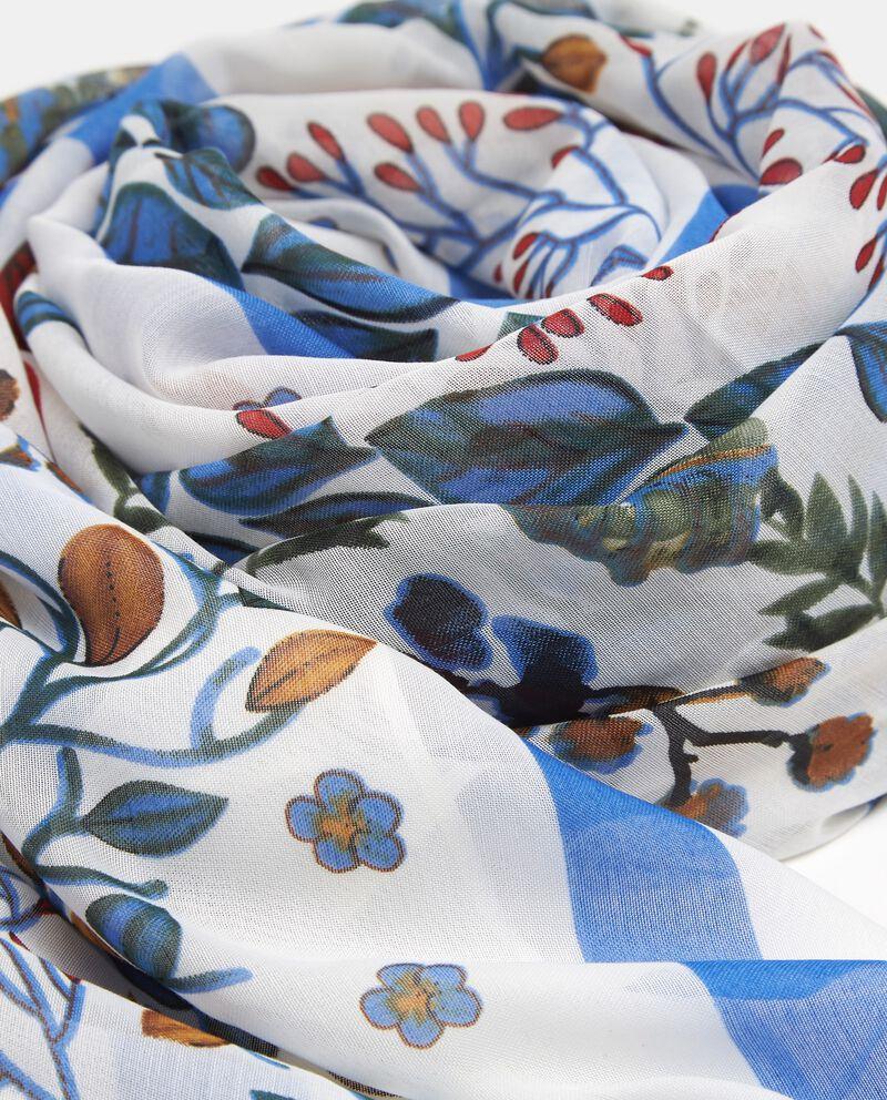 Sciarpa multicolor con fantasia floreale donna