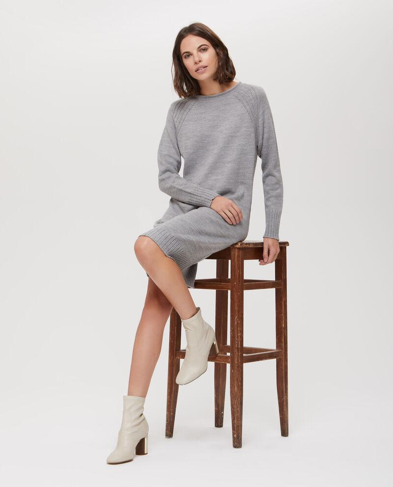 Abito in maglia tricot con costina