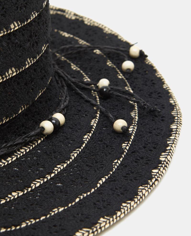 Cappello in cotone ricamato macramè donna