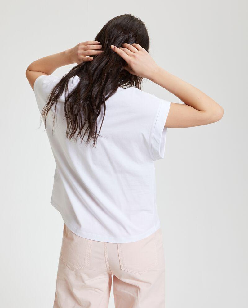 T-shirt in puro cotone con tasca donna