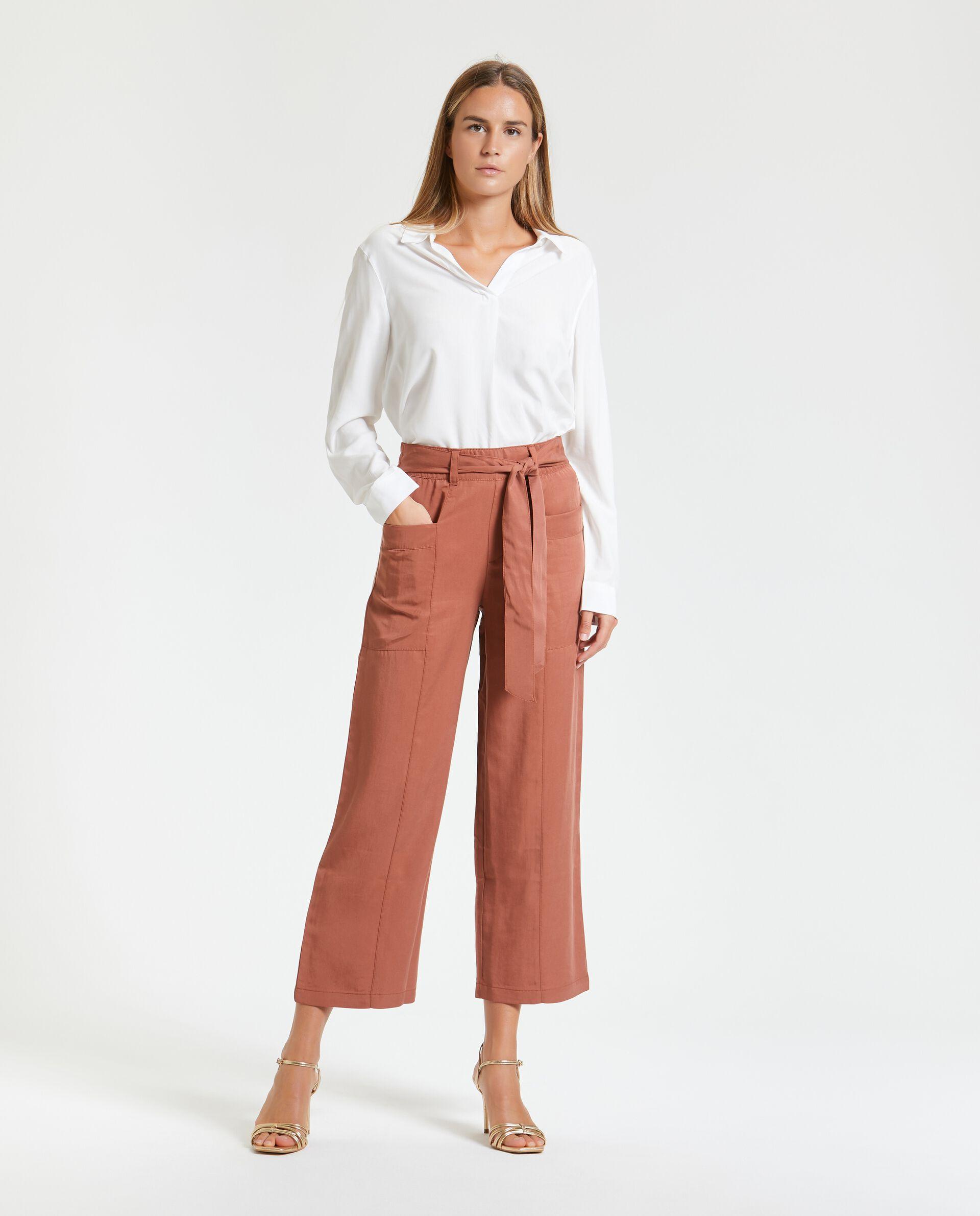 Pantaloni a palazzo cropped leggeri donna