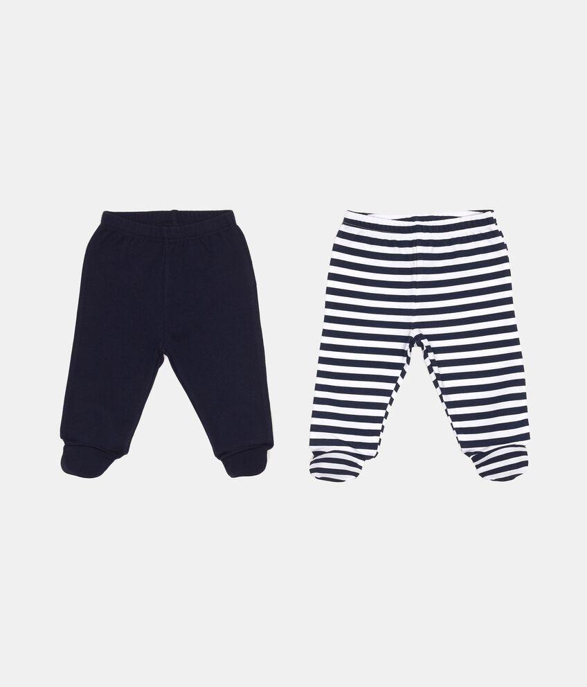 Set due paia pantaloni vita elasticata