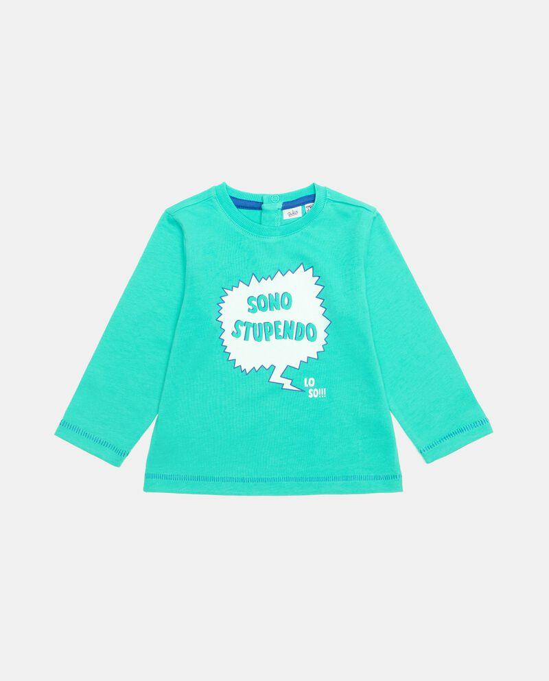 T-shirt stampata in cotone organico neonatodouble bordered 0