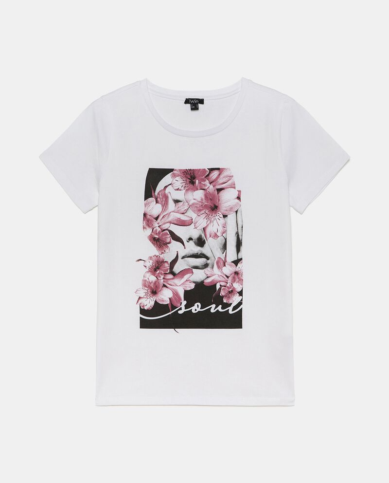T-shirt con stampa floreale donna