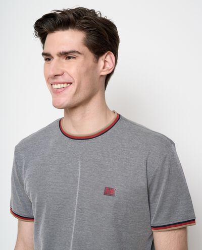 T-shirt in cotone con dettagli a contrasto uomo