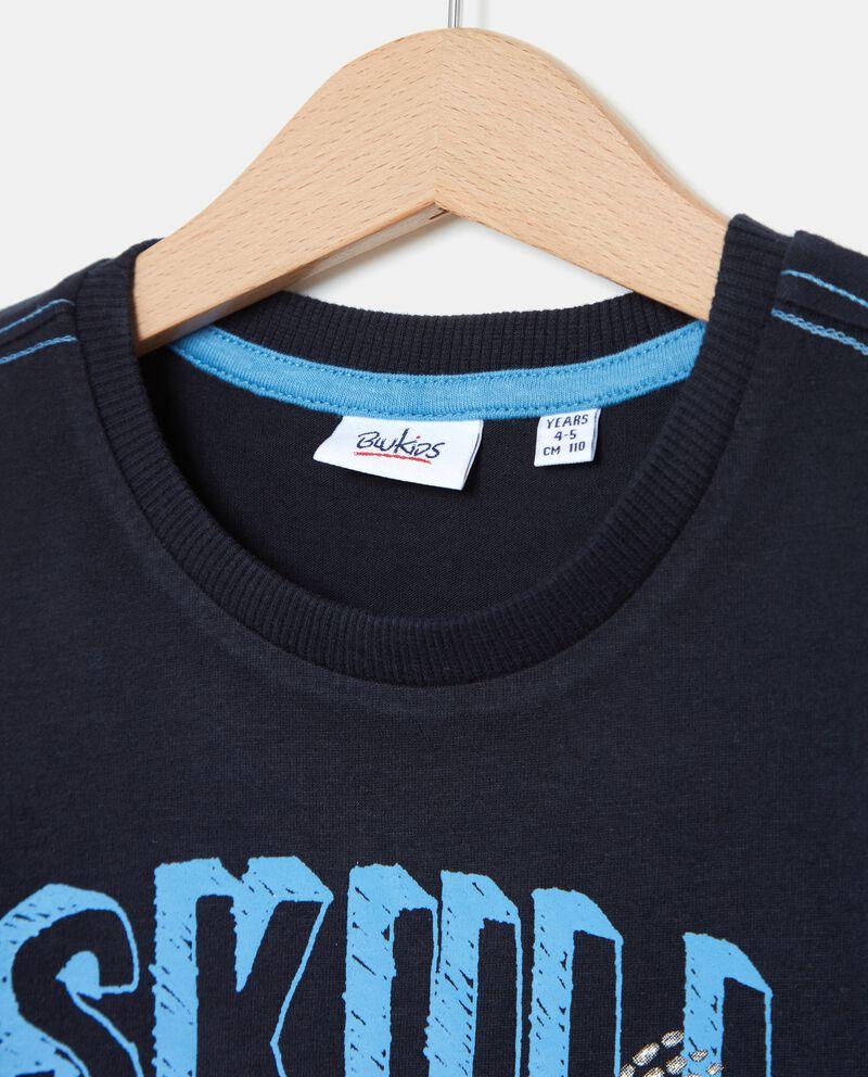 T-shirt con teschio bambino