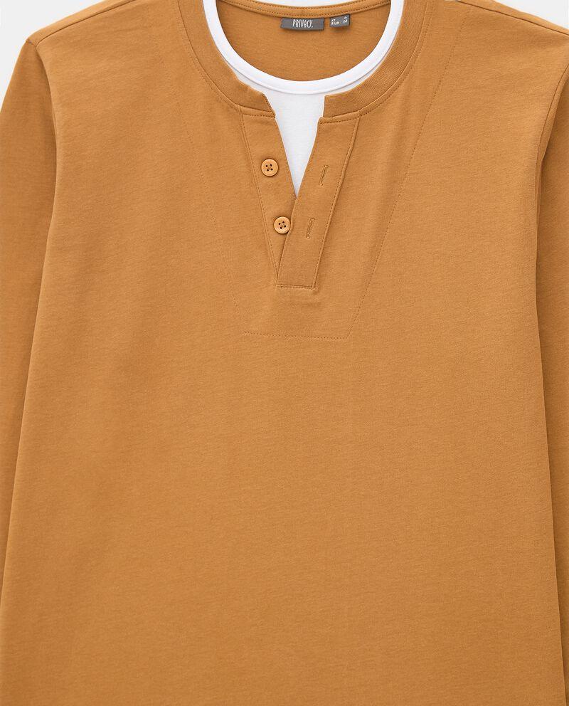 Maglia del pigiama in puro cotone uomo single tile 1